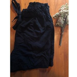H&M high waisted belted shorts